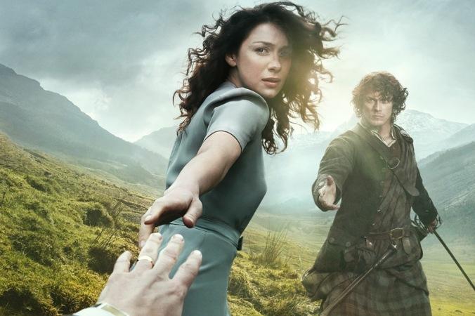 Outlander, com Caitriona Balfe e Sam Heughan